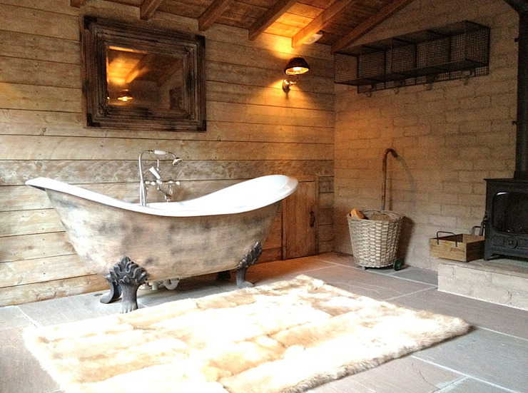 Fletcher's Cottage Bathroom Rustic style spa by Aitken Turnbull Architects Rustic