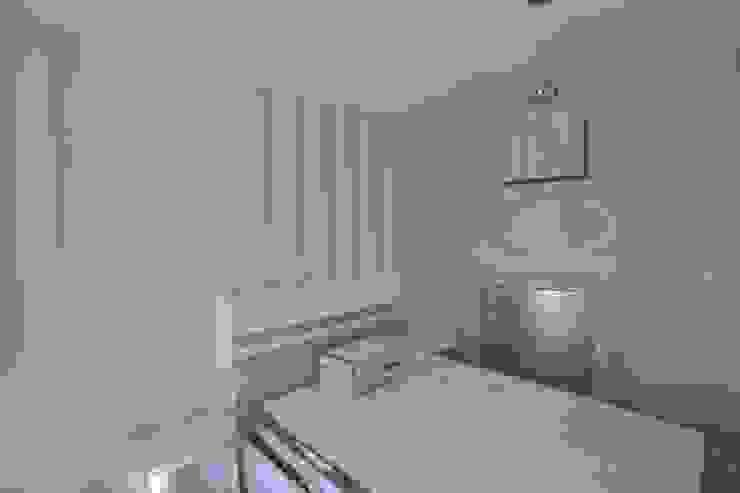 EL VERSÁTIL RECURSO DEL PAPEL PINTADO Dormitorios de estilo moderno de MIMESIS INTERIORISMO Moderno