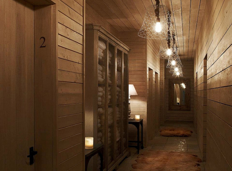 Fletcher's Cottage Internal Corridor Rustic style spa by Aitken Turnbull Architects Rustic