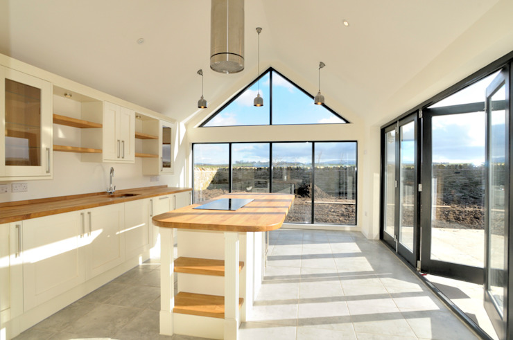 Birgham Haugh Kitchen Sun Room Country style kitchen by Aitken Turnbull Architects Country