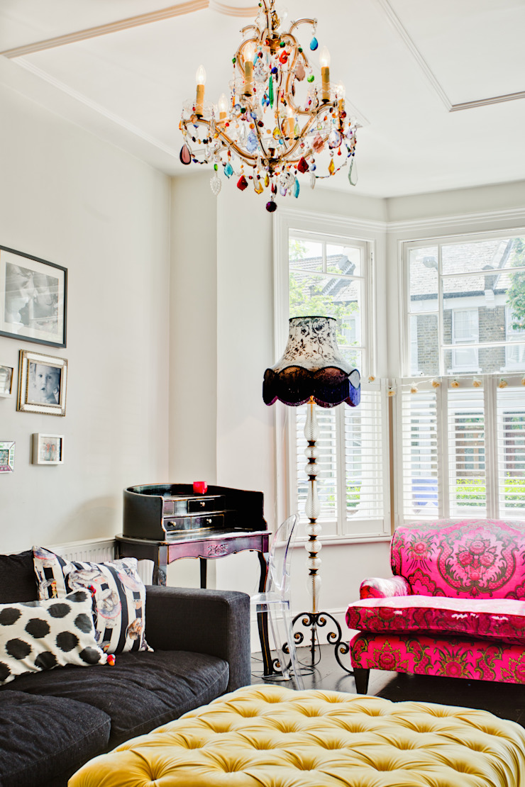 Queens Park House Honeybee Interiors Livings de estilo ecléctico