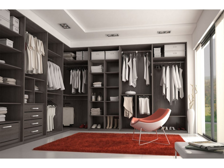 Walk in closet de estilo  por MUEBLES RABANAL SL, Industrial