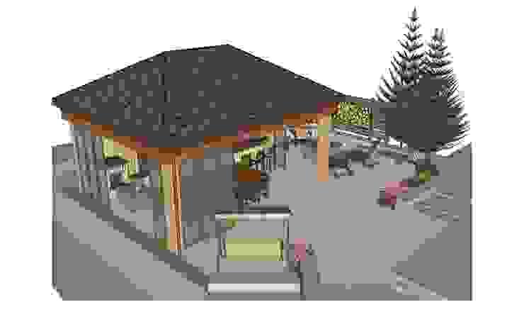 Эскизное проектирование беседки и площадки для отдыха от BersoDesign ❖ Landscape architecture. Design.
