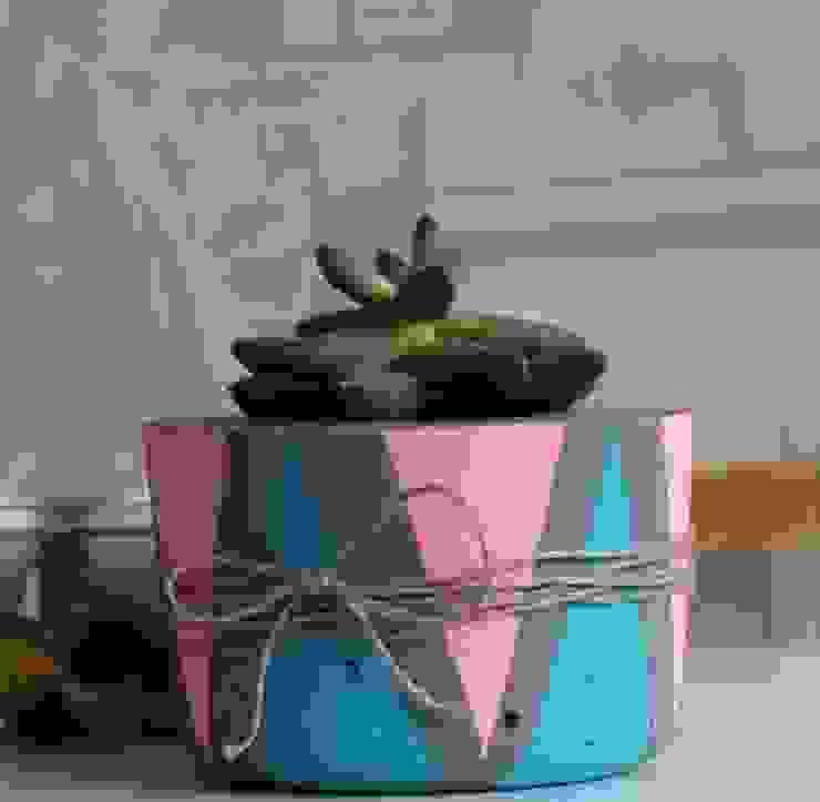 Betonica – Pembe & Mavi  El Yapımı Beton Saksı:  tarz Ev İçi,