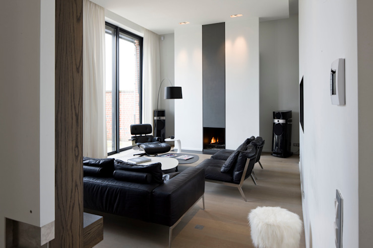 Living room by GUILLAUME DA SILVA ARCHITECTURE INTERIEURE, Modern
