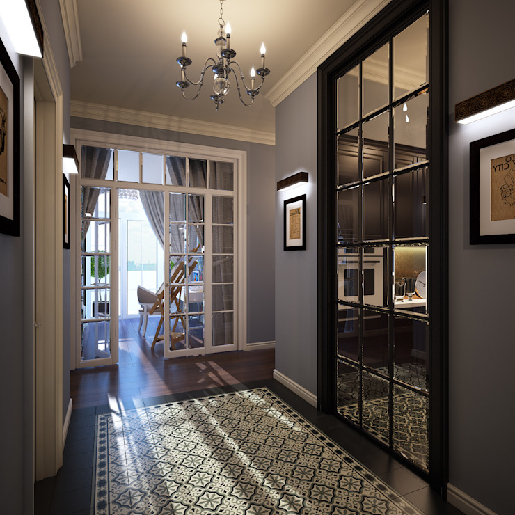 Classic style corridor, hallway and stairs by homify Classic