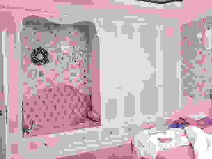 meble zaprojektowałam myśląc o potrzebach estetycznych małej dziewczynki ;-) Klasyczna sypialnia od livinghome wnętrza Katarzyna Sybilska Klasyczny
