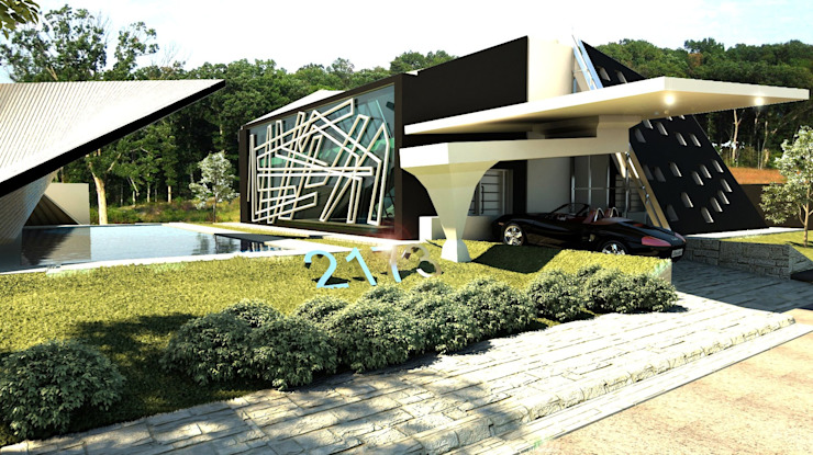 Varios: Casas de estilo  por arquitecto9.com, Clásico