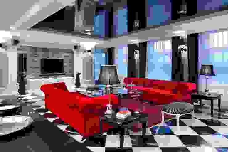 APARTAMENT DLA DWOJGA Eklektyczny salon od livinghome wnętrza Katarzyna Sybilska Eklektyczny