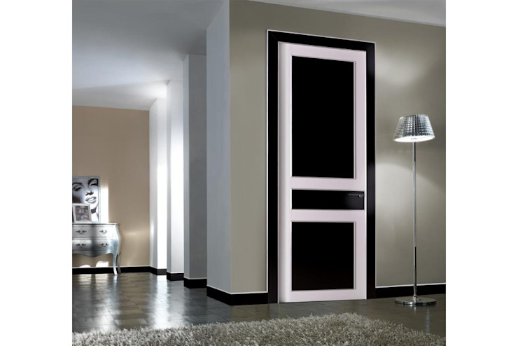 Eclectic wood doors gloss laquered TONDIN PORTE SRL con unico socio Eclectic style windows & doors