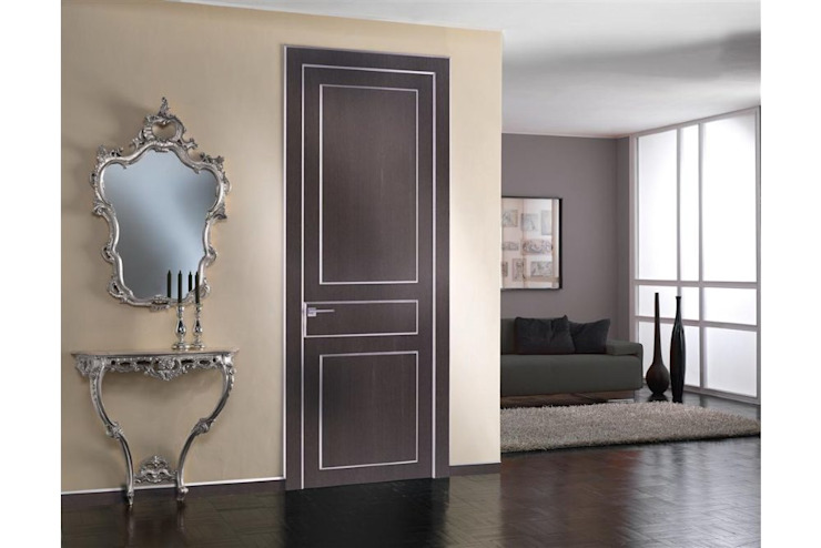 Eclectic wood doors grey oak Modern Windows and Doors by TONDIN PORTE SRL con unico socio Modern