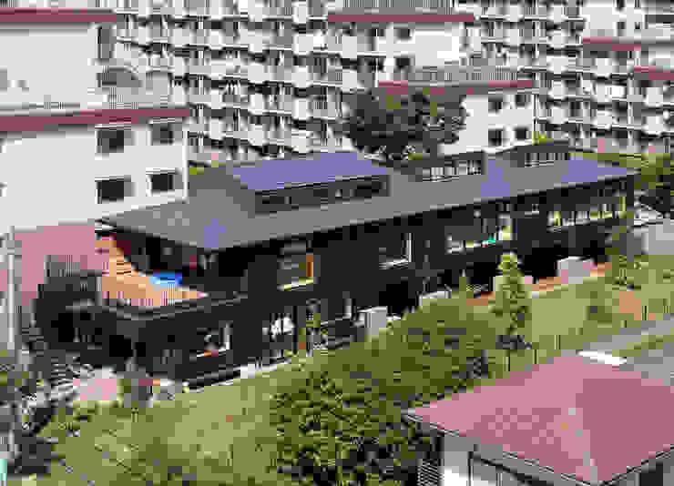 屋上庭園のある保育園(俯瞰) アジア風学校 の ユニップデザイン株式会社 一級建築士事務所 和風
