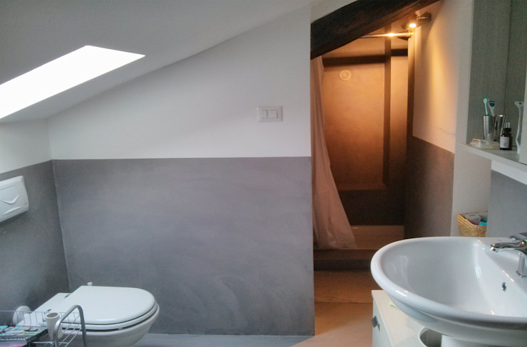 Bagno Bagno minimalista di Aulaquattro Minimalista