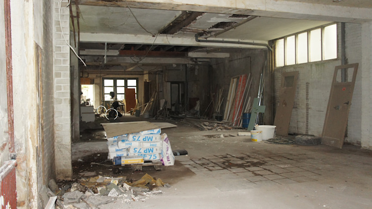 Garage voor de transformatie van Studio OxL