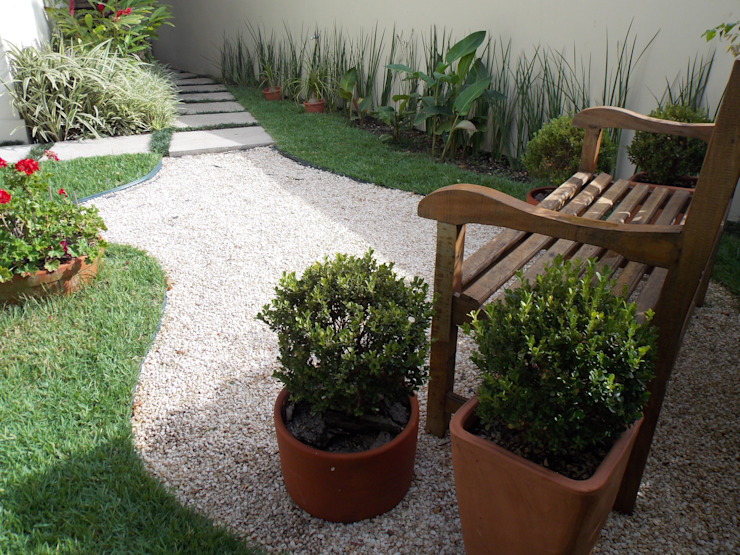 Jardin de style  par Lúcia Vale Interiores, Rustique