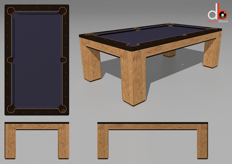 Custom 'Spartan' American Pool Table. by Designer Billiards