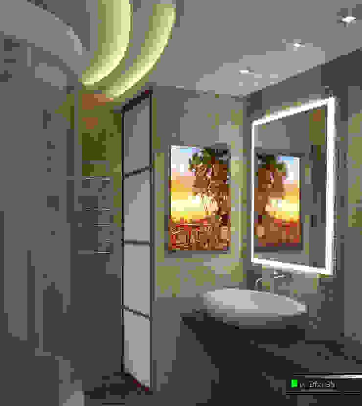 Квартира для отдыха в Болгарии Ванная комната в стиле модерн от LC.DESIGN Модерн