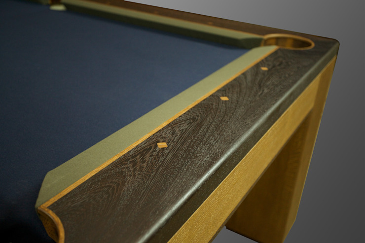 Custom 'Spartan' American Pool Table.: rustic  by Designer Billiards, Rustic