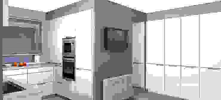 Proyecto de cocina para casa unifamiliar. Cocinas de estilo moderno de KITS INTERIORISME Moderno