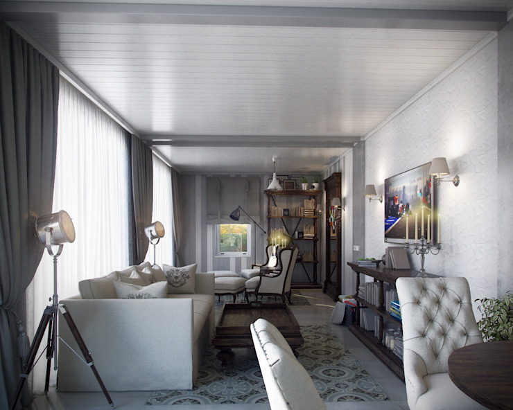 01 Балконы и веранды в эклектичном стиле от Hogart Design Эклектичный