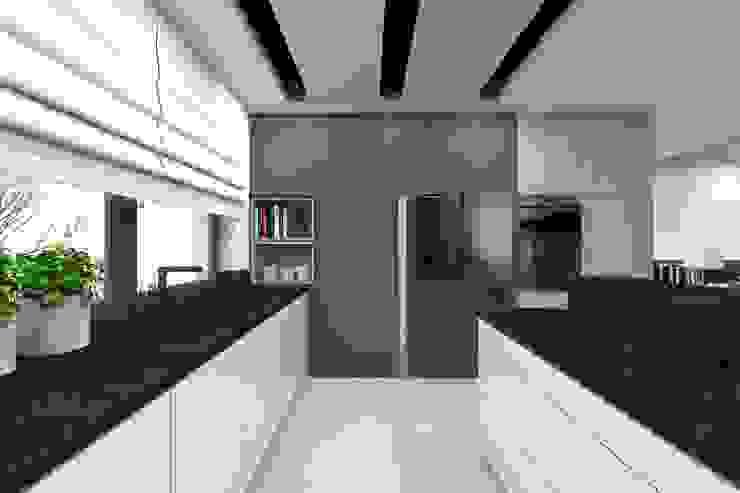 Projekt domu jednorodzinnego 2 (wykonany dla A2.Studio Pracownia Architektury) Nowoczesna kuchnia od BAGUA Pracownia Architektury Wnętrz Nowoczesny