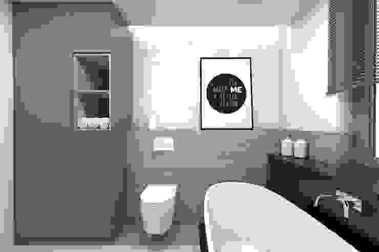 Projekt domu jednorodzinnego 2 (wykonany dla A2.Studio Pracownia Architektury) Skandynawska łazienka od BAGUA Pracownia Architektury Wnętrz Skandynawski