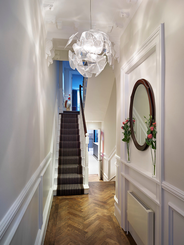 Reflected Glory—Holland Park Renovation Tyler Mandic Ltd Classic style corridor, hallway and stairs