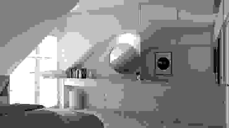 Projekt domu jednorodzinnego 3 (wykonany dla A2.Studio Pracownia Architektury) Skandynawska sypialnia od BAGUA Pracownia Architektury Wnętrz Skandynawski