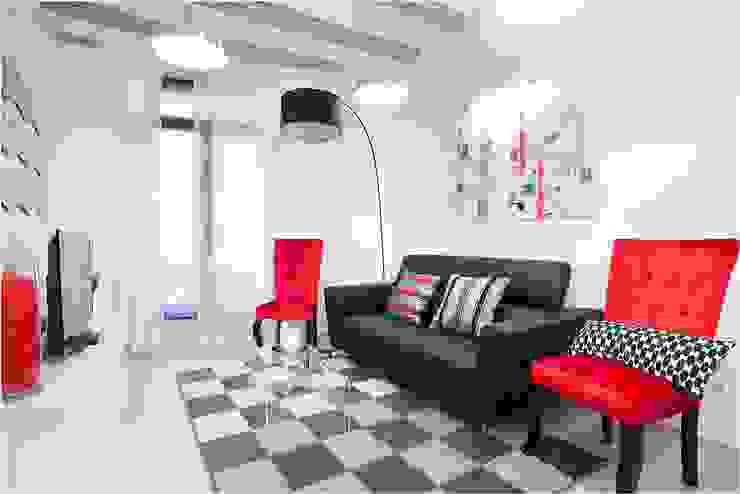 Salas de estar ecléticas por Amplix Group Eclético