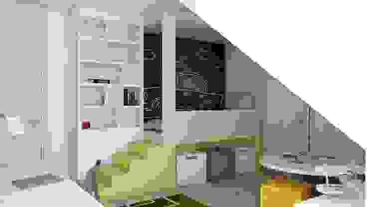 BAGUA Pracownia Architektury Wnętrz Stanza dei bambini in stile scandinavo