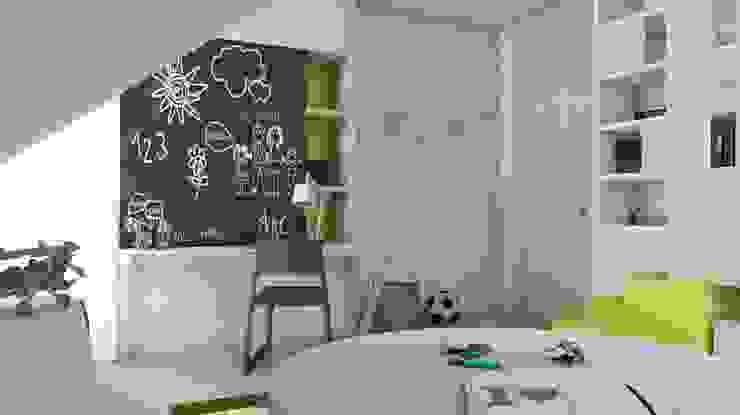 Projekt domu jednorodzinnego 3 (wykonany dla A2.Studio Pracownia Architektury) Skandynawski pokój dziecięcy od BAGUA Pracownia Architektury Wnętrz Skandynawski