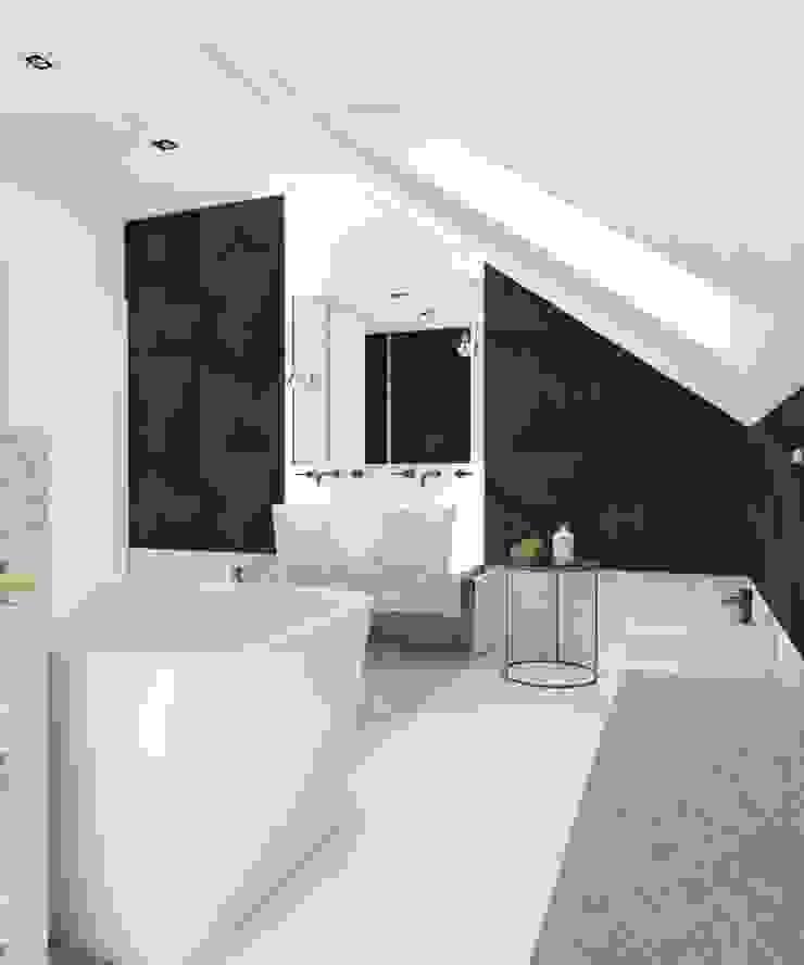 Projekt domu jednorodzinnego 3 (wykonany dla A2.Studio Pracownia Architektury) Nowoczesna łazienka od BAGUA Pracownia Architektury Wnętrz Nowoczesny