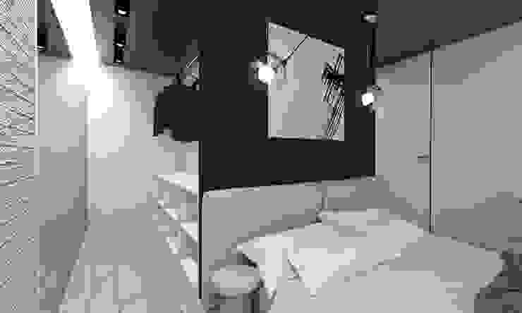 Projekt domu jednorodzinnego 4 : styl , w kategorii Garderoba zaprojektowany przez BAGUA Pracownia Architektury Wnętrz,Nowoczesny