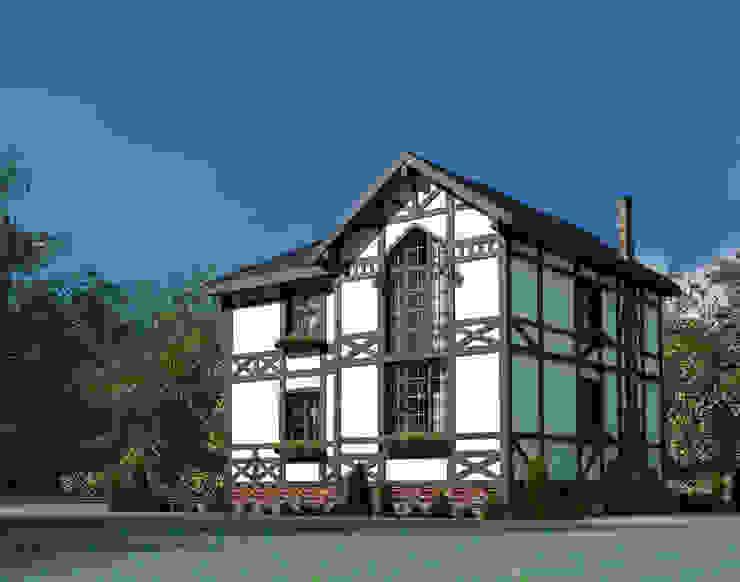 Дом в немецком стиле Дома в скандинавском стиле от Студия Ксении Седой Скандинавский