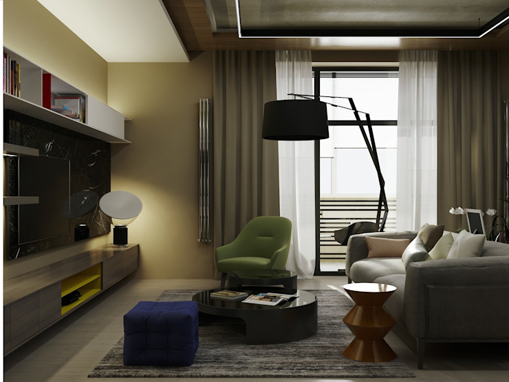 A Posteriori Гостиная в стиле модерн от Max Kasymov Interior/Design Модерн