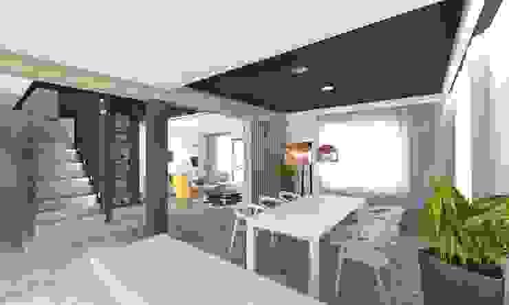 Modern dining room by BAGUA Pracownia Architektury Wnętrz Modern