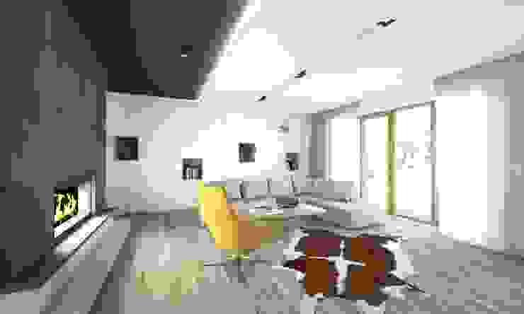 Modern living room by BAGUA Pracownia Architektury Wnętrz Modern