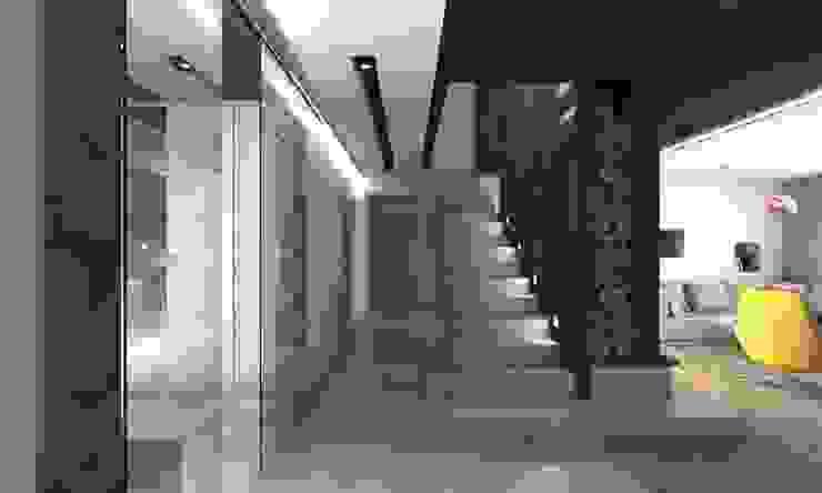 Modern Corridor, Hallway and Staircase by BAGUA Pracownia Architektury Wnętrz Modern