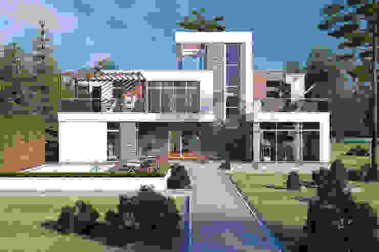 Дома в стиле минимализм: Дома в . Автор – Студия Ксении Седой,