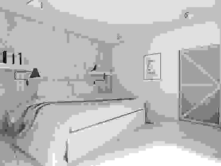 Scandinavian style bedroom by BAGUA Pracownia Architektury Wnętrz Scandinavian