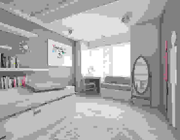 Pokoje dziecięce w domach jednorodzinnych (projekty wykonane dla A2.Studio Pracownia Architektury) Skandynawski pokój dziecięcy od BAGUA Pracownia Architektury Wnętrz Skandynawski