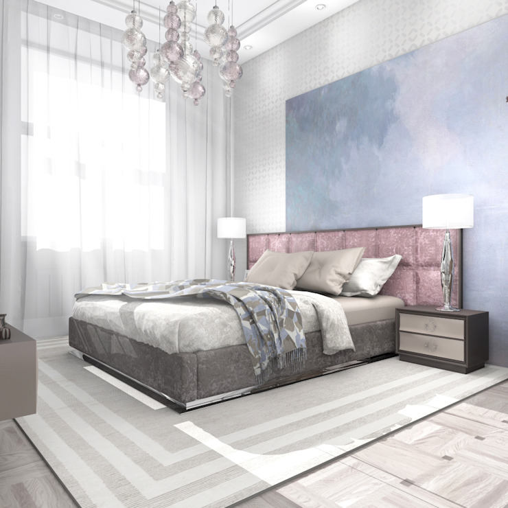 Квартира в Санкт-Петербурге Спальня в стиле модерн от Ekaterina Bahir Модерн