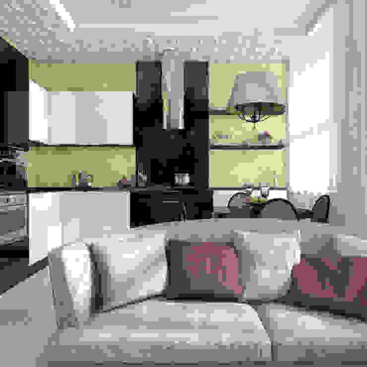 Квартира в Санкт-Петербурге Гостиная в стиле модерн от Ekaterina Bahir Модерн