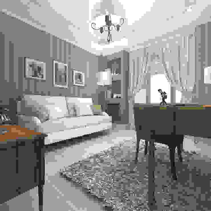 Квартира в Санкт-Петербурге Рабочий кабинет в классическом стиле от Ekaterina Bahir Классический