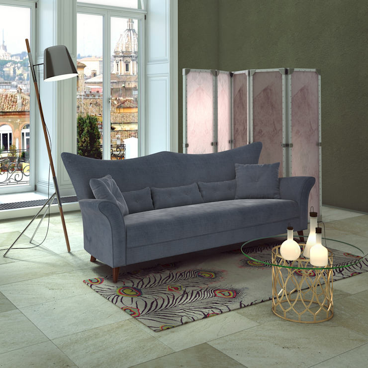 3d interior furniture Sofa banzho Гостиные в эклектичном стиле от 3D_DESIGNER_ALLA Эклектичный