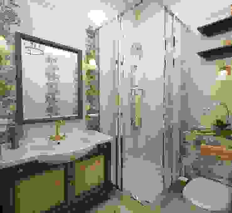 Дом- как мир. Ванная комната в стиле кантри от Студия Ксении Седой Кантри