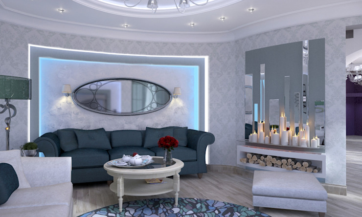 Дом- как мир. Гостиная в классическом стиле от Студия Ксении Седой Классический