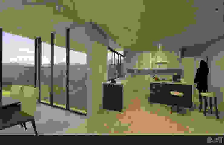 Proyecto Chaga Cocinas modernas de GRH Interiores Moderno
