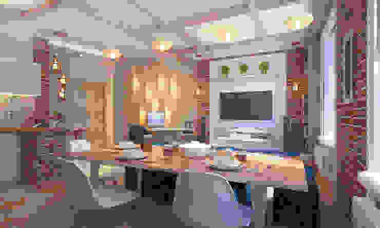 Уютный лофт в Москве Кухня в стиле лофт от Студия Ксении Седой Лофт