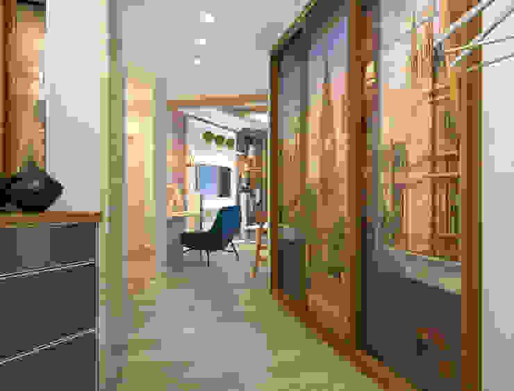 Уютный лофт в Москве Коридор, прихожая и лестница в стиле лофт от Студия Ксении Седой Лофт